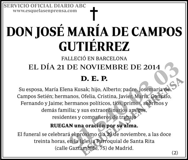 José María de Campos Gutiérrez